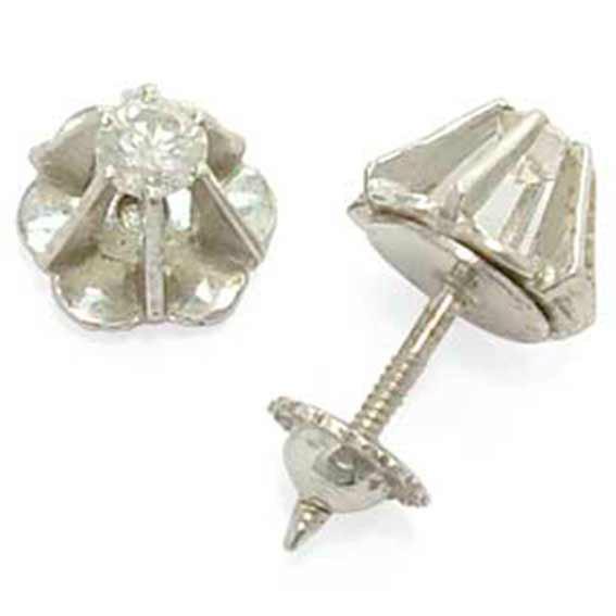 312842f5fcdf7 Brinco solitário em ouro branco 18k feminino Diamante na Monte Blanco