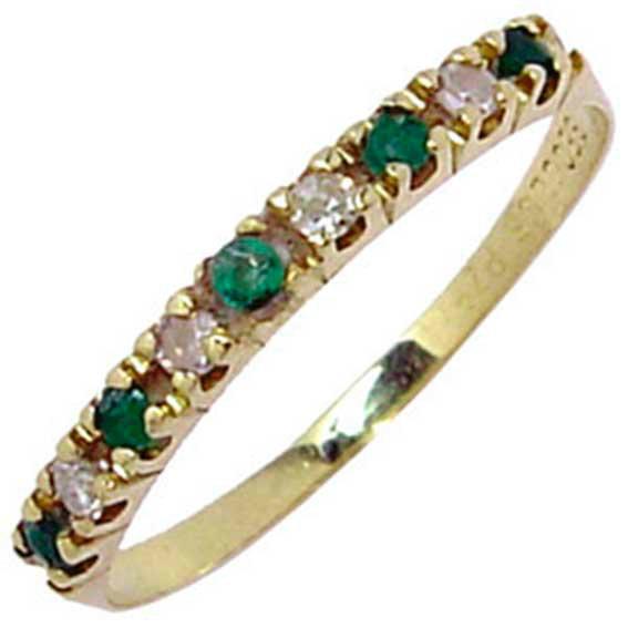 Meia aliança de esmeraldas e brilhantes em ouro 18k - 2MBE0005 ... 100fd0a4cc