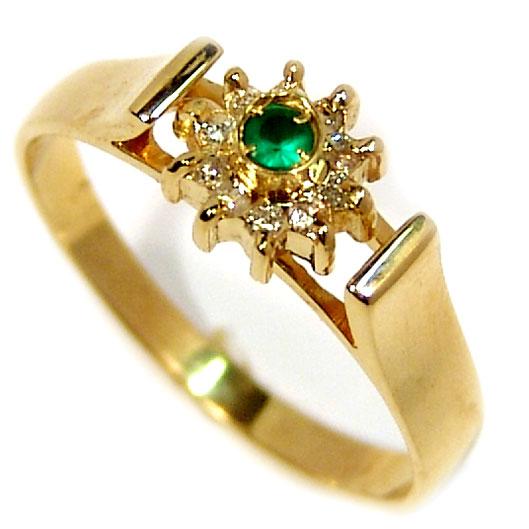 Anel formatura em ouro 18k - Diamantes e Esmeralda - 2ABE0046 ... 172615b476