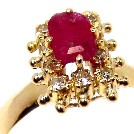 3e56baf456e Anel em ouro 18k com diamantes e rubi - 2ABR0054 Esmeralda na Monte ...