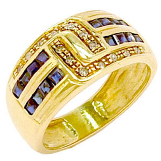 ee2b2d0b82d98 Anel em ouro 18k com safiras e brilhantes - 1ABS0007 Safira na Monte ...