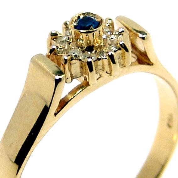 17190ac2511 Anel formatura em ouro 18k - Diamantes e Safira - 2ABS0046 Diamante ...