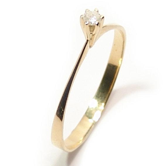 Anel Solitário em ouro amarelo 18k - 2ANB0109 Diamante na Monte Blanco 9f18f03bb7