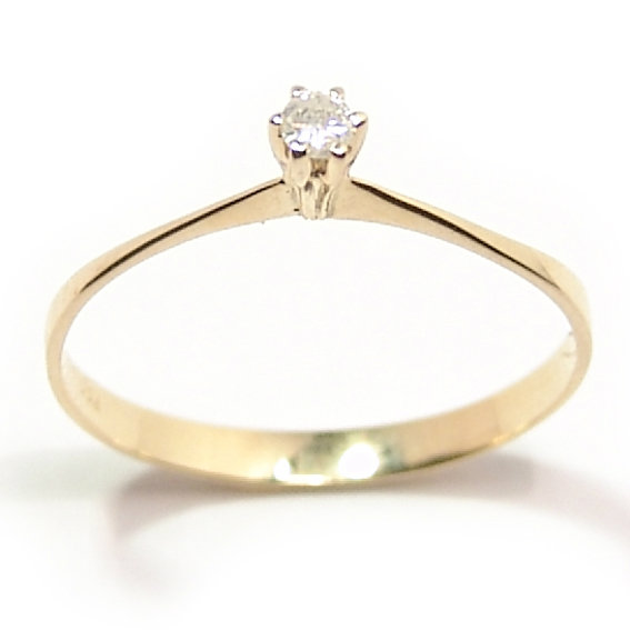 Anel Solitário em ouro amarelo 18k - 2ANB0109 Diamante na Monte Blanco 170bc6abcd