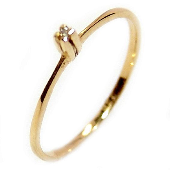 966acab1ce587 Anel Solitário em ouro amarelo 18k - 2ANB0361 Diamante na Monte Blanco