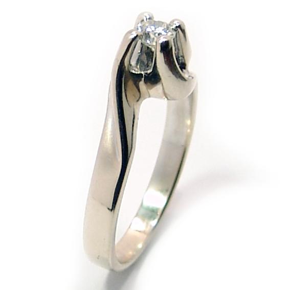 Solitário em ouro branco 18k Diamante na Monte Blanco 20da62ed76