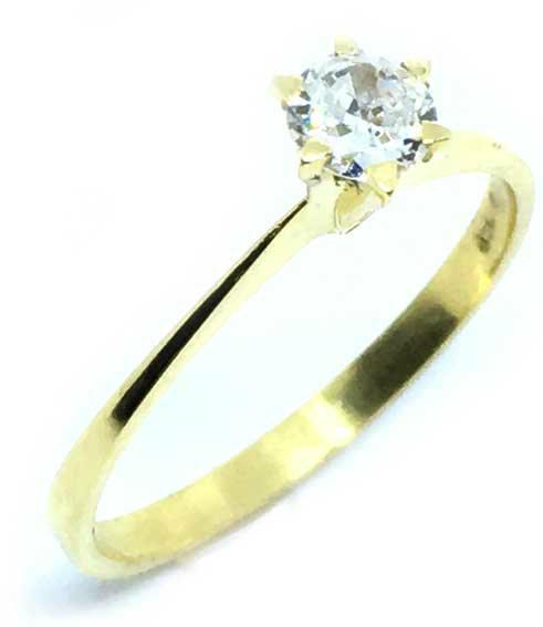 c4bb8a408a7ae Anel Solitário em ouro amarelo 18k - 2ANB0390 Diamante na Monte Blanco
