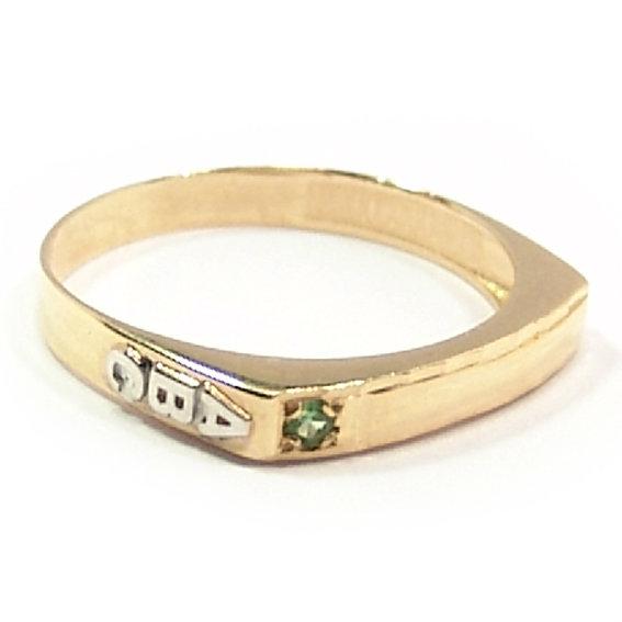 5885ad006dc Anel ABC em ouro 18k Infantil - Pedra semi preciosa - 2APS0048 Ouro ...