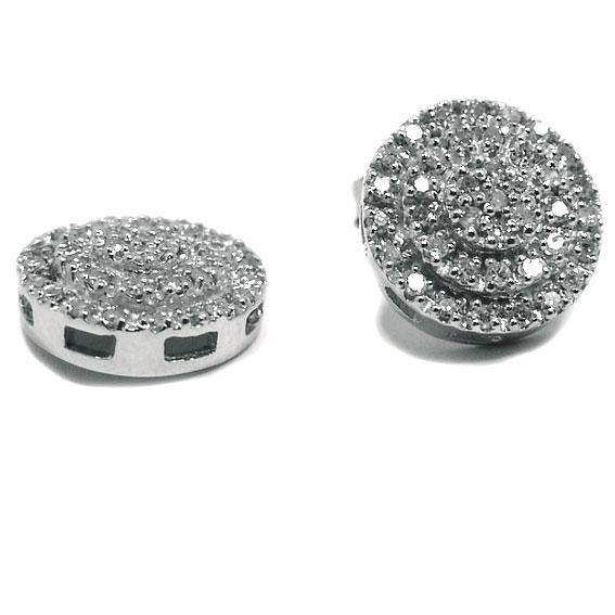 a3a988593f775 Brinco em ouro branco 18k feminino com brilhantes Diamante na Monte ...