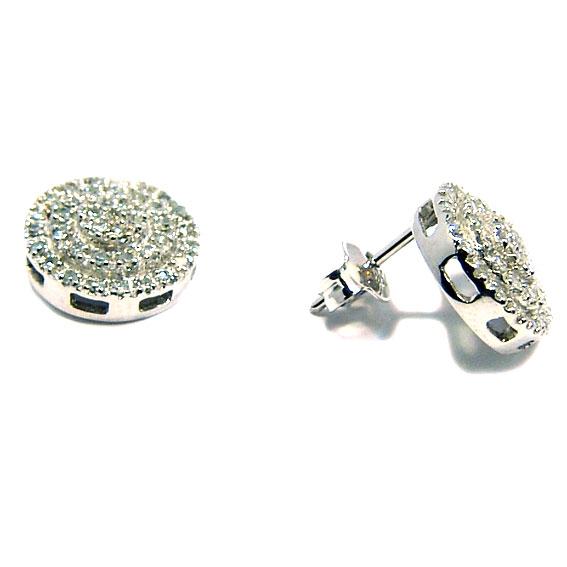 e57d098a15482 Brinco em ouro branco 18k feminino com brilhantes Diamante na Monte ...