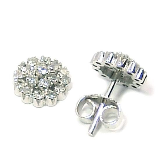 e6c23650aae8d Brinco em ouro branco 18k feminino com brilhante Diamante na Monte ...