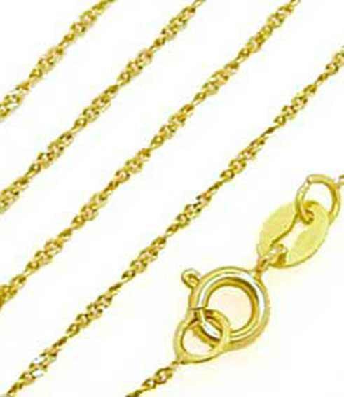 Corrente de ouro amarelo 18k - Singapura - 40 cm Ouro Amarelo na ... 0c82ded60d