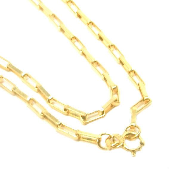 05ff0c9629804 Cordão de ouro 18k - Elos retangular - Masculino - 60 cm - 2CLO0500 ...