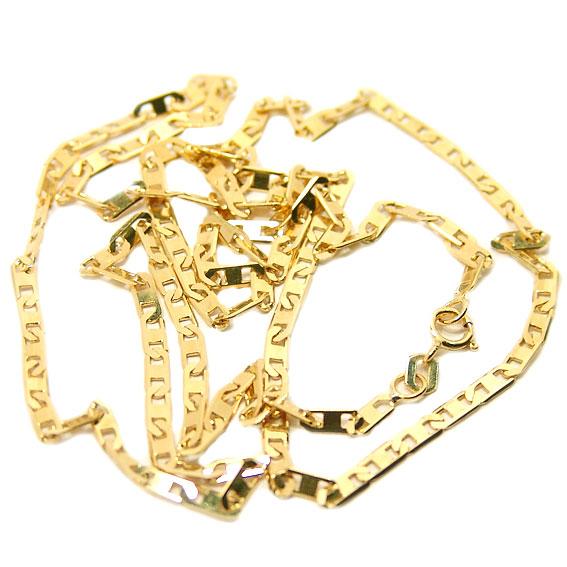 91c01fdf6ac7d Corrente de ouro amarelo 18k - Cadeado Achatado - Masculina - 70 cm ...