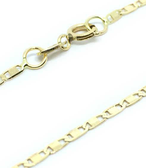 9497376a0b67b Colar em ouro 18k - Cadeado achatado - Feminino - 50 cm - 2CLO0579 ...