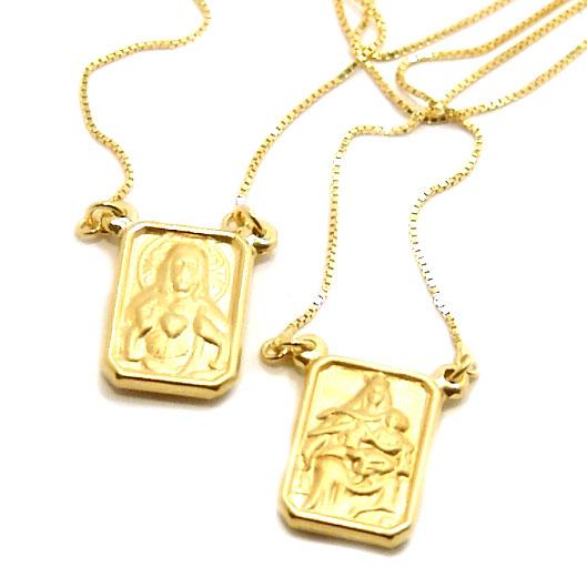 1642a36448af3 Escapulário em ouro amarelo 18k Ouro Amarelo na Monte Blanco
