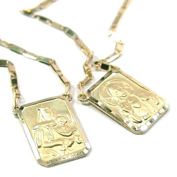 e6987e61d1e66 Escapulário em ouro amarelo 18k - 2CLO Ouro Amarelo na Monte Blanco