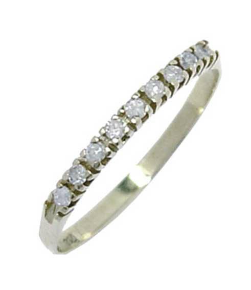 Meia aliança de brilhantes em ouro branco 18k Diamante na Monte Blanco 9335e34a0f