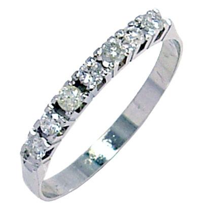 0f28d6e605192 Meia aliança de brilhantes em ouro branco 18k - 2MAB0017 Diamante na ...