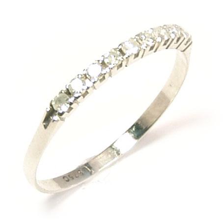 23602dd40c32e Meia aliança de brilhantes em ouro branco 18k Diamante na Monte Blanco