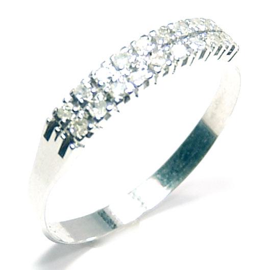 Meia aliança de brilhantes em ouro branco 18k Diamante na Monte Blanco 963b35d705