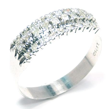 Meia aliança de diamantes em ouro branco 18k Diamante na Monte Blanco 4b918a5def