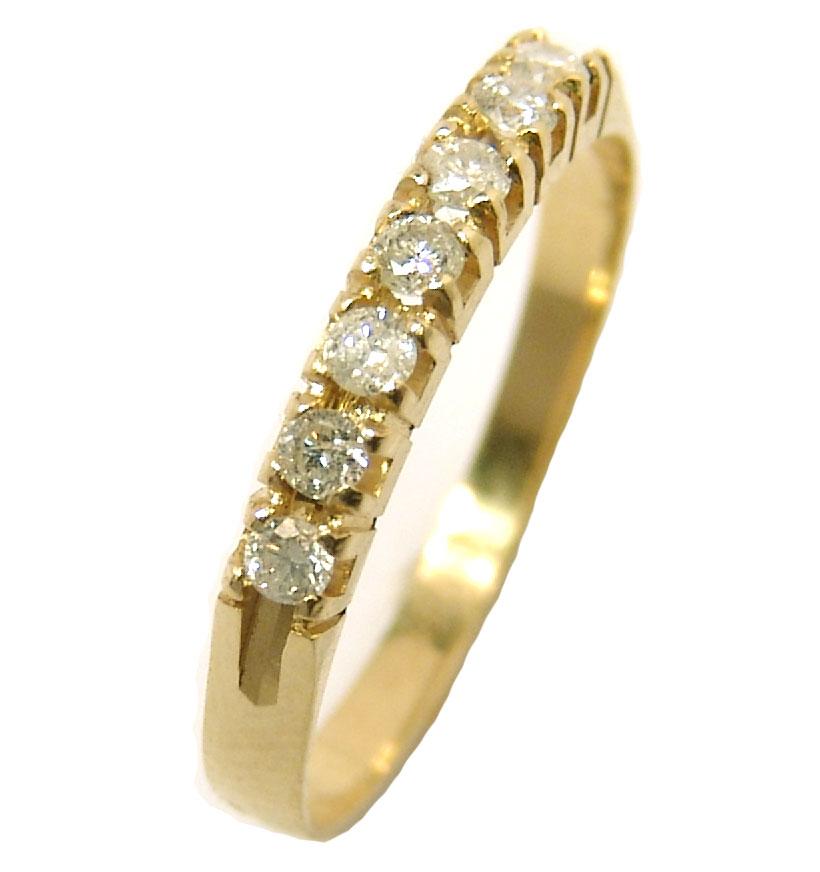 5ce41580a4f76 Meia aliança de brilhantes em ouro 18k Diamante na Monte Blanco