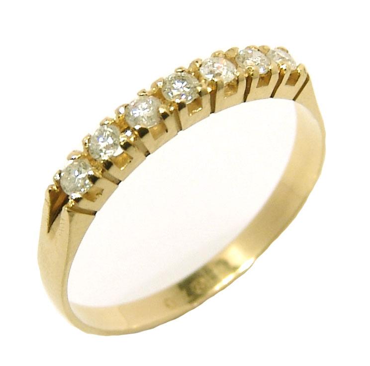 592bb38548fe7 Meia aliança de brilhantes em ouro 18k Diamante na Monte Blanco