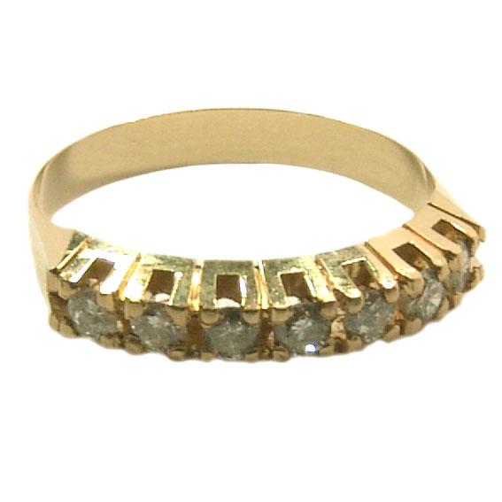 0ddf0a2d486fc Meia aliança de brilhantes em ouro amarelo 18k Diamante na Monte Blanco