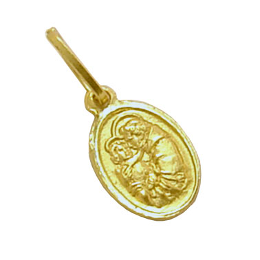 Medalhinha de Santo Antônio em ouro 18k Ouro Amarelo na Monte Blanco 1db322acd1