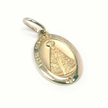 53199ee79d4a5 Medalha de Nossa Senhora Aparecida em ouro 18k - 2MEO0198 Ouro ...