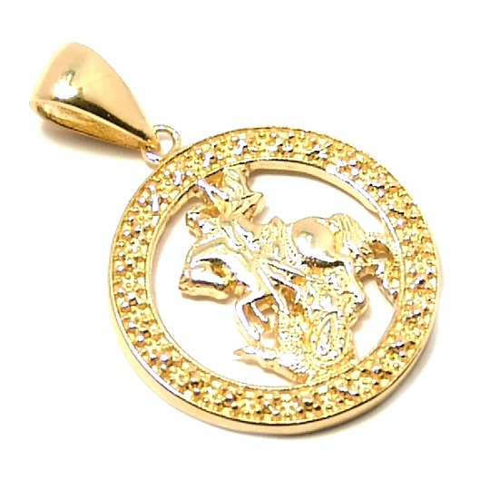Medalha de São Jorge em ouro 18k Ouro Amarelo na Monte Blanco 1f44ade61e