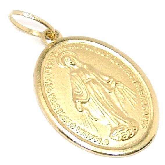 2822ee3107a72 Medalha de Nossa Senhora das Graças em ouro 18k Ouro Amarelo na ...