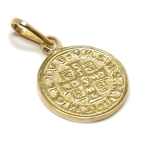 73a821665eda9 Medalha de São Bento em ouro 18k Ouro Amarelo na Monte Blanco