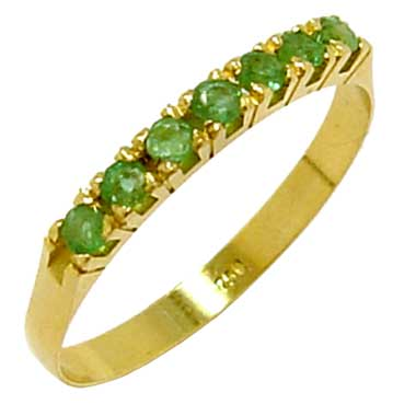 Meia Aliança de esmeraldas em ouro 18k - 2MES0004 Esmeralda na Monte ... 474d984f52