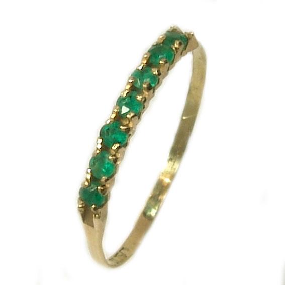 Meia Aliança de esmeraldas em ouro 18k Esmeralda na Monte Blanco 0a020fb022