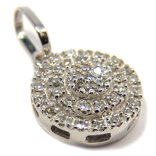 5b3c5003d2c98 Pingente em ouro branco 18k - com brilhantes - 2PEB0041 Diamante na ...