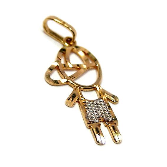 db178135fd107 Pingente em ouro amarelo 18k - Boneco Ouro Amarelo na Monte Blanco