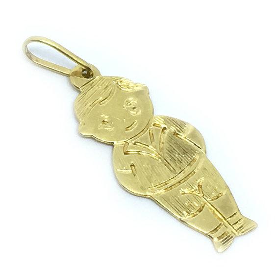 c1e2f2f547199 Pingente em ouro amarelo 18k - Boneco Ouro Amarelo na Monte Blanco