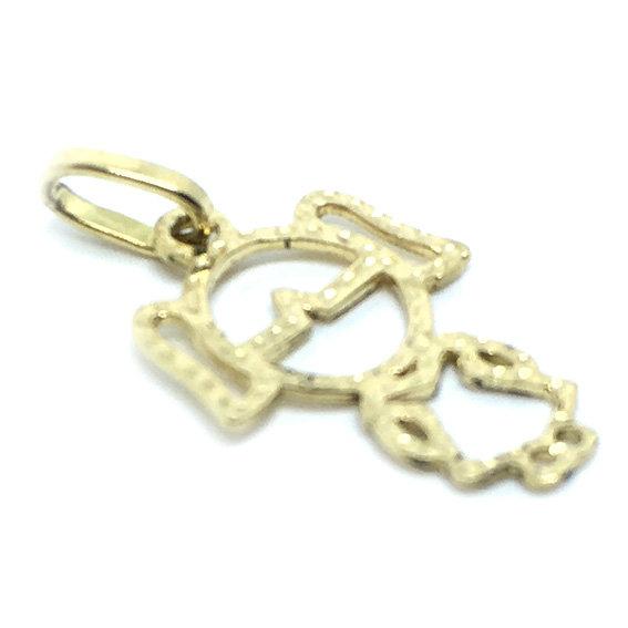 Pingente em ouro 18k - Boneca - 2PEO0120 Ouro Amarelo na Monte Blanco 17c5f5538b