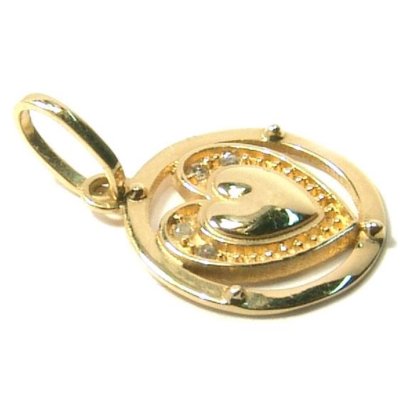 Pingente em ouro 18k - Coração Ouro Amarelo na Monte Blanco fe7f638380