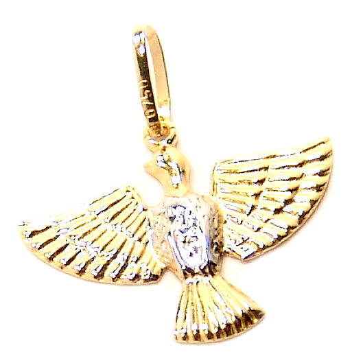 b4324a2b3c653 Pingente de ouro amarelo 18k - Pomba Divino Espirito Santo Ouro ...