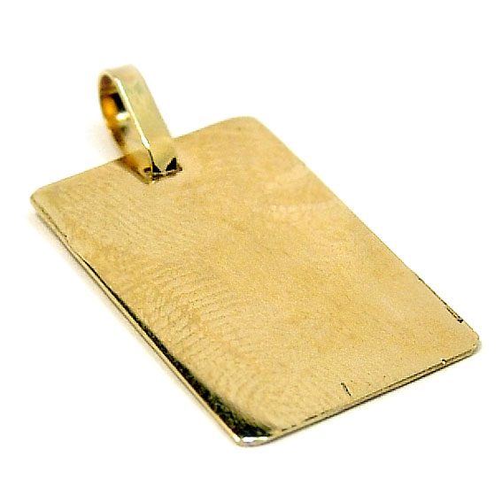 b4cae4eeca35f Pingente em ouro amarelo 18k - Placa Ouro Amarelo na Monte Blanco