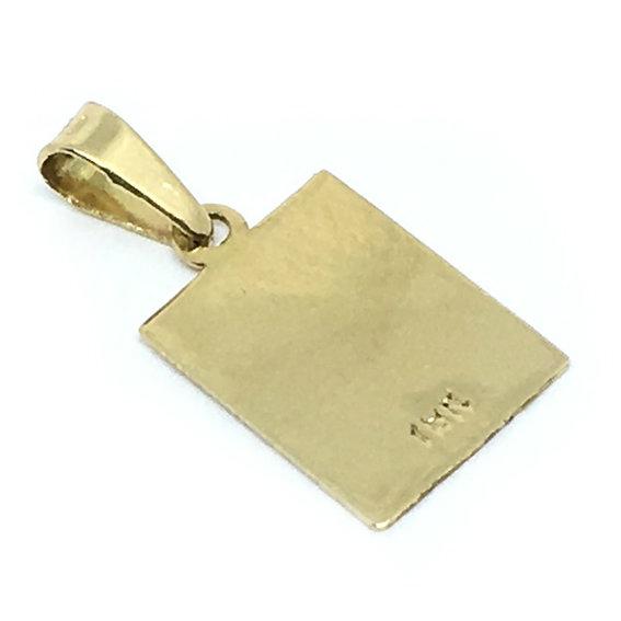 9ef08d7f3fca7 Pingente em ouro amarelo 18k - Placa fosca Ouro Amarelo na Monte Blanco