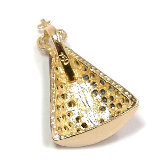 f287790a8e676 Pingente em ouro amarelo 18k com safiras - N. Sra. Aparecida ...