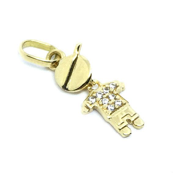 a2efd49caaf06 Pingente em ouro 18k - Boneco - 2PIZ0072 Zirconia na Monte Blanco