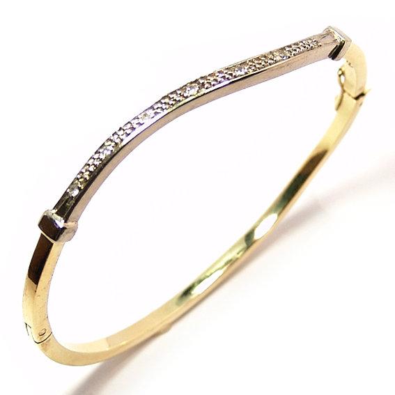 30e6dd0ee5c74 Bracelete feminino em ouro amarelo 18k com diamantes Diamante na ...