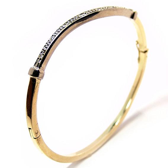 195c19ad4f91f Bracelete feminino em ouro amarelo 18k com diamantes Diamante na ...