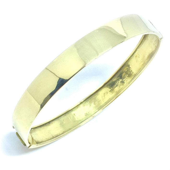 aec9c5cbe93bc Bracelete feminino em ouro amarelo 18k - Polido - 2PUO0644 Ouro ...