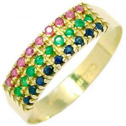Meia aliança de esmeralda, safira e rubi em ouro - 2MPE0004 ... 4f304f3b7b